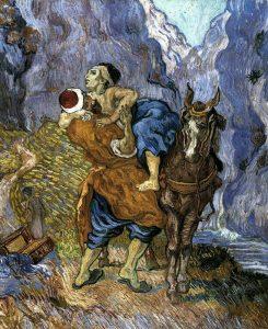De barmhartige Samaritaan van Vincent van Gogh